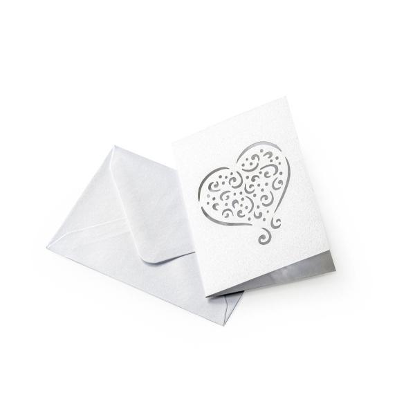 ümbrik kaart süda valge